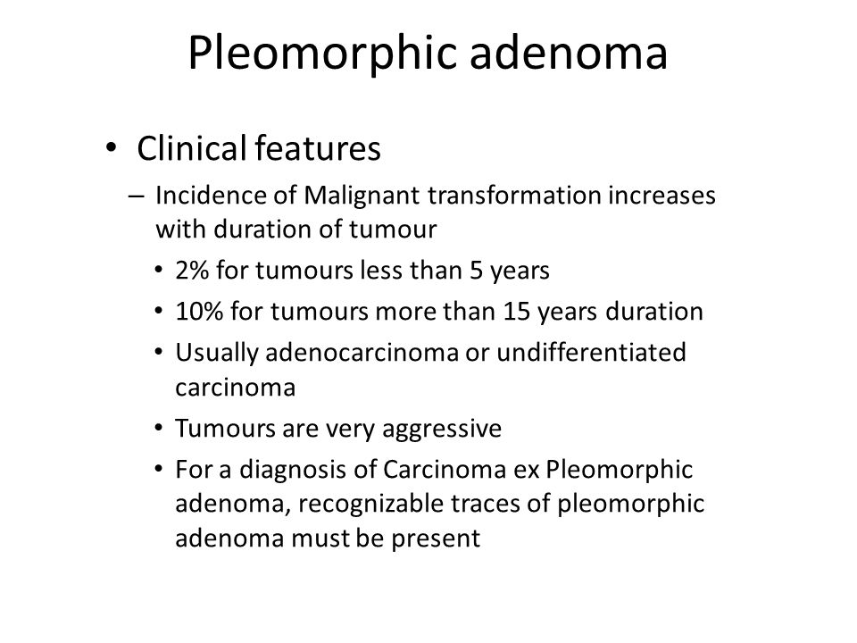 pleomorphic adenoma