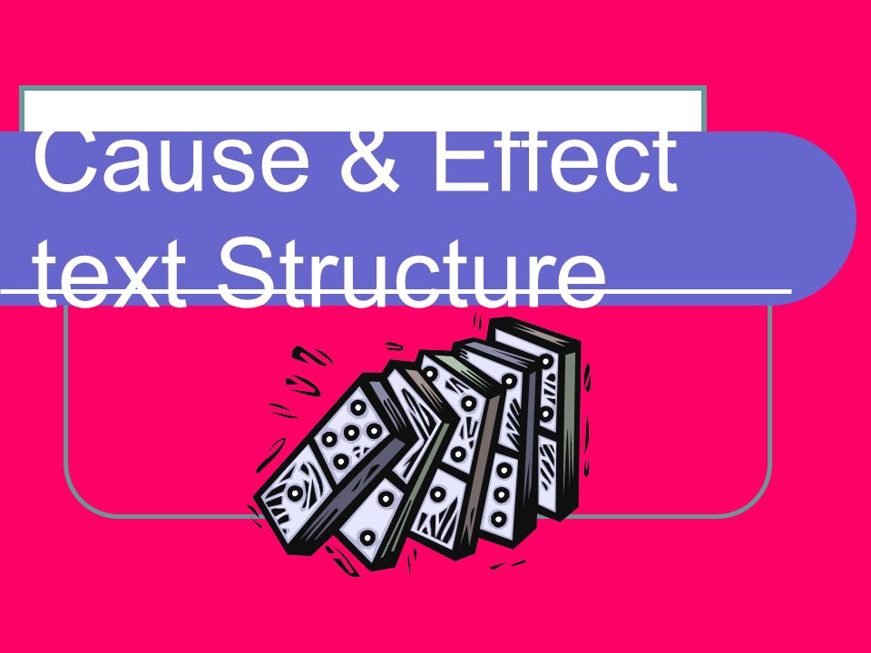 Cause & Effect text Structure