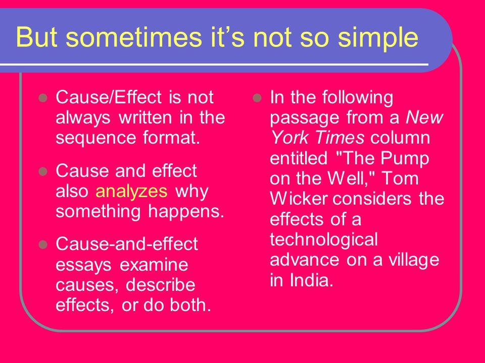 cause effect essay esl
