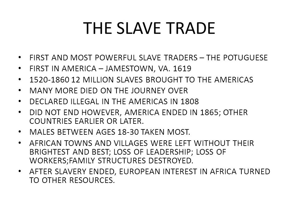 a look at slavery of africans in europe between 1520 and 1860 The spaniards, and subsequently other europeans, in america thus naturally came to look to africa to make good their labour shortage, and a slave trade to the caribbean had commenced on a small scale in the 1520s spain had little in the way of trade in africa itself, so the authorities gave out contracts for the supply of.