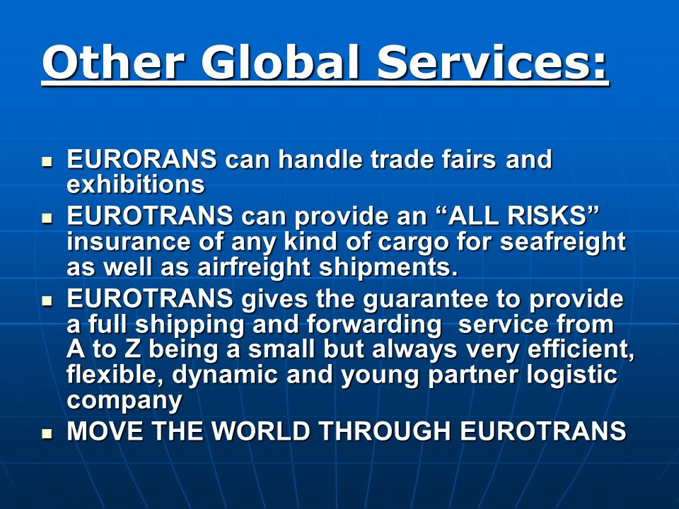 Other Global Services: