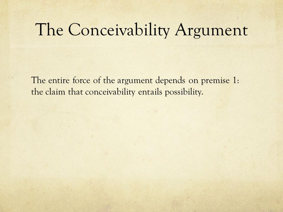 does conceivability entail possibility pdf