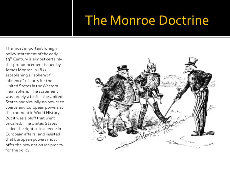 an analysis of the monroe doctrine by president monroe in 19th century Museum director scott harris tours the james monroe museum and library and  talks about monroe's life, including his time as a student at.