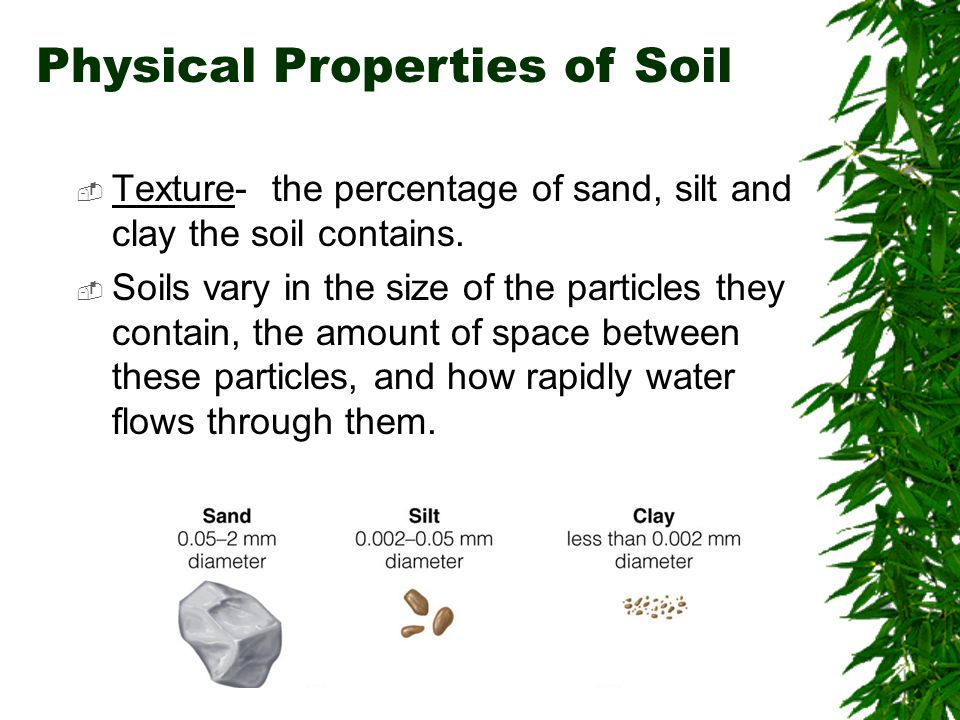 Soils chapter 10 brooks cole publishing company itp for Characteristics of soil