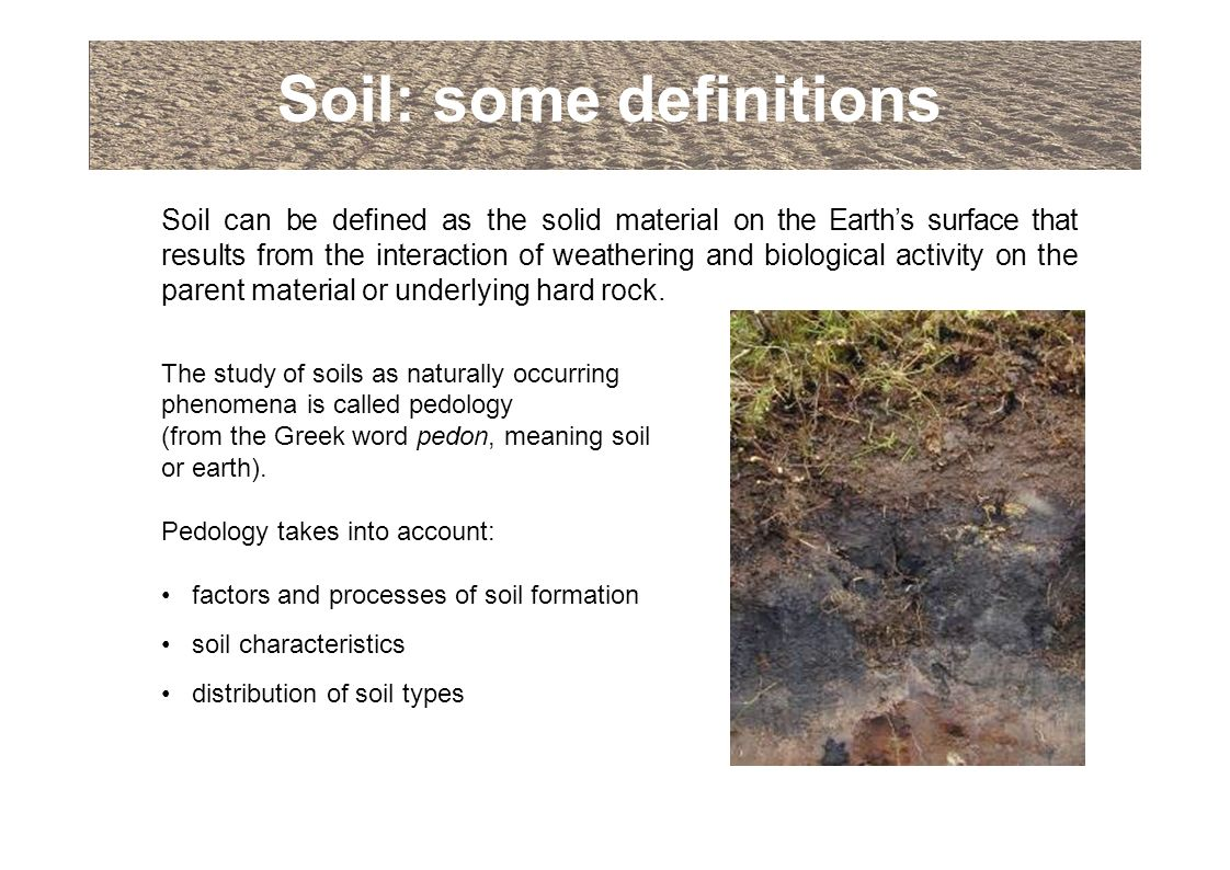 An introduction to soils and soil terminology ppt download for Soil definition science