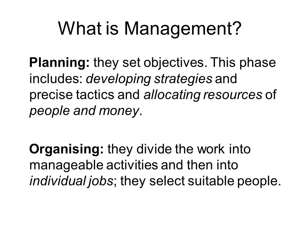 Peter drucker an introductory view of management ppt video what is management sciox Choice Image