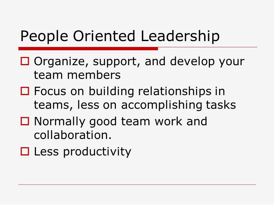 People Oriented Leadership