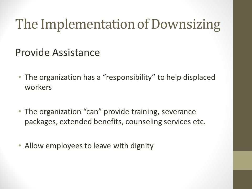 Organization size life cycle and decline ppt video for Benefits of downsizing