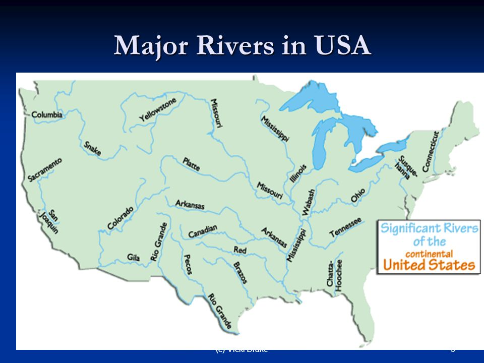 HOW FLOWING WATER CHANGES THE EARTHS SURFACE Ppt Download - Major rivers in usa map