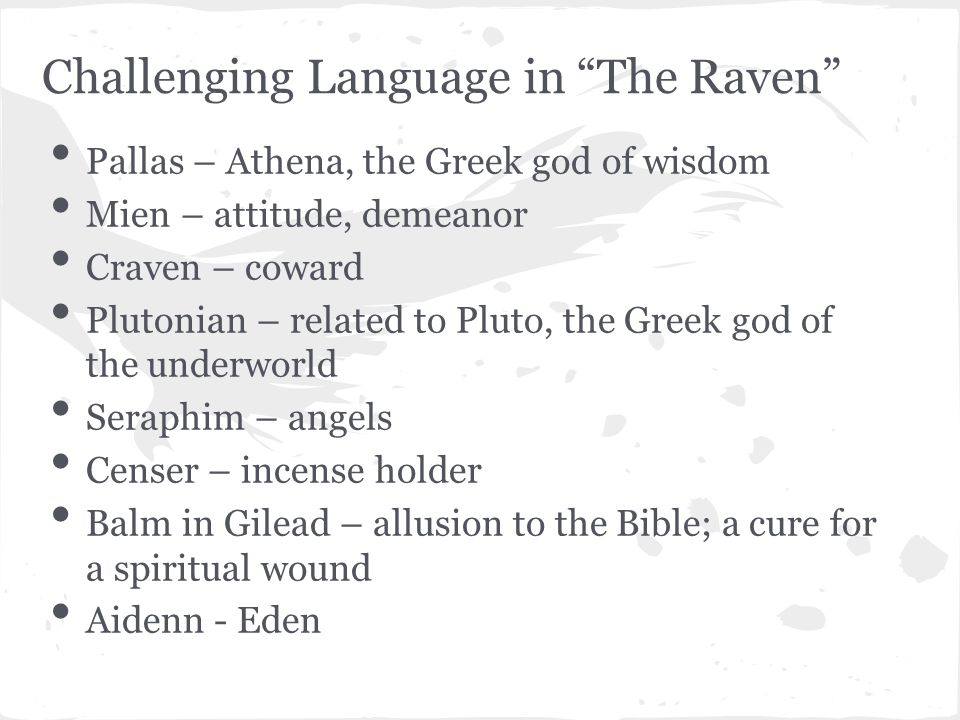 The Raven Symbols And Allusions Custom Paper Writing Service