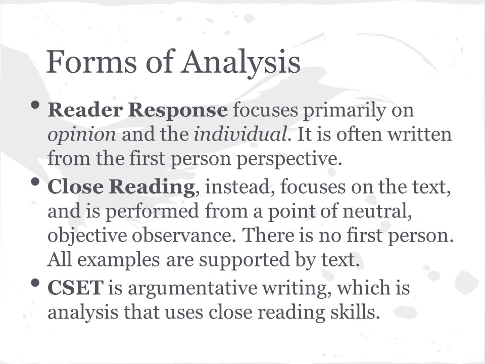 close reading essays poe Close reading essays close reading of alone by edgar allan poe english language print this guide provides strategies for instruction.