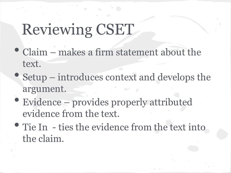 Cset written response questions - Constructed Response