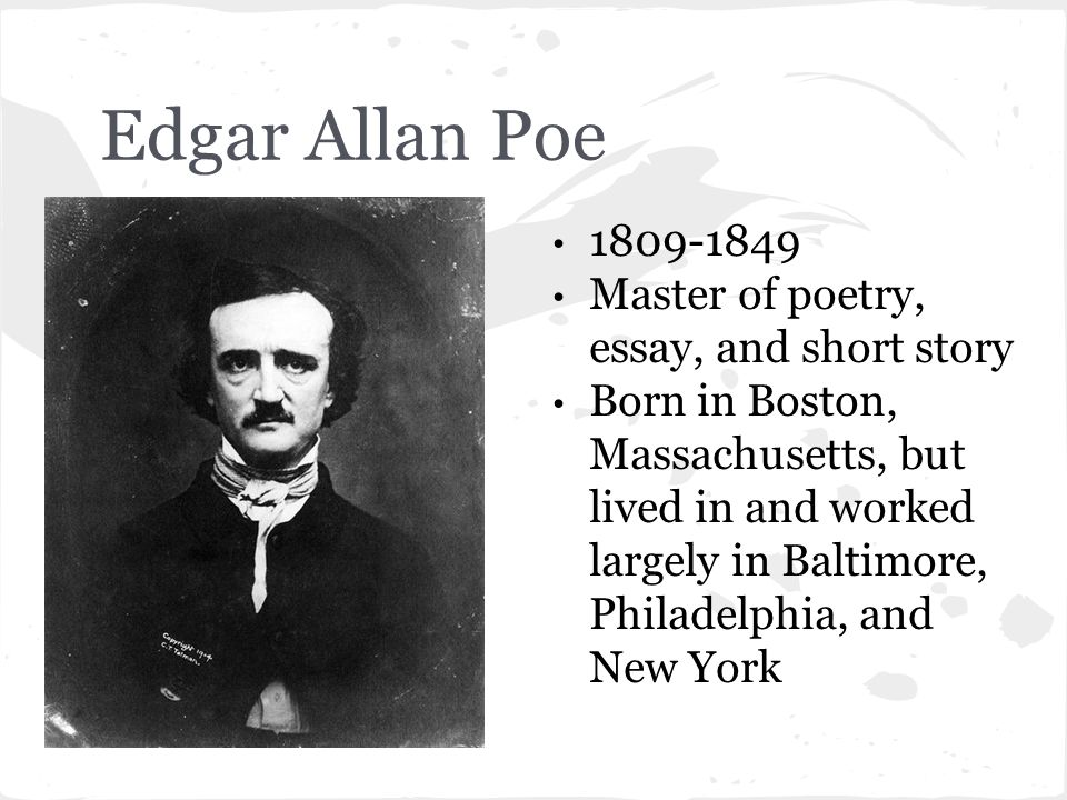 "edgar allan poe ""the raven"" ppt video online  edgar allan poe 1809 1849 master of poetry essay and short story"