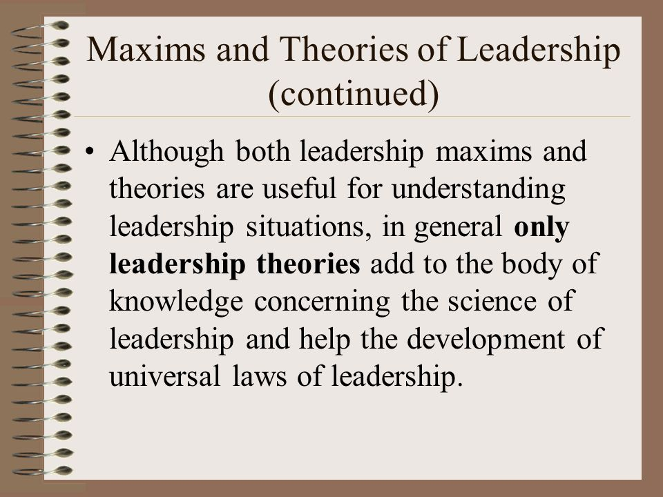 the leaders and theories in the creation science You are here: home / how to grow leaders / a framework for leadership — a rough guide to leadership models and theories.