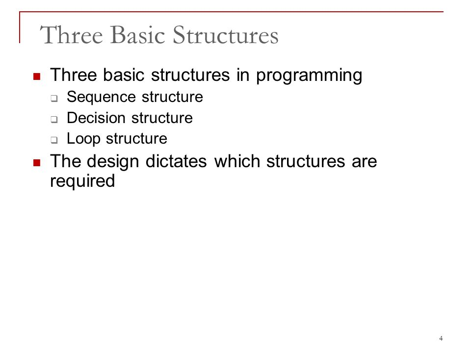 three basic structures of structured programming Three basic programming structures that are used in structured programming from cs 192 at grantham university.
