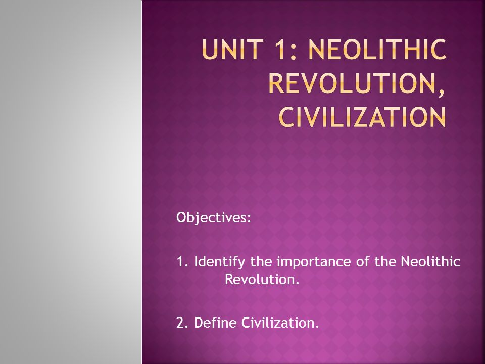neolithic revolution outcomes impacts and achievements