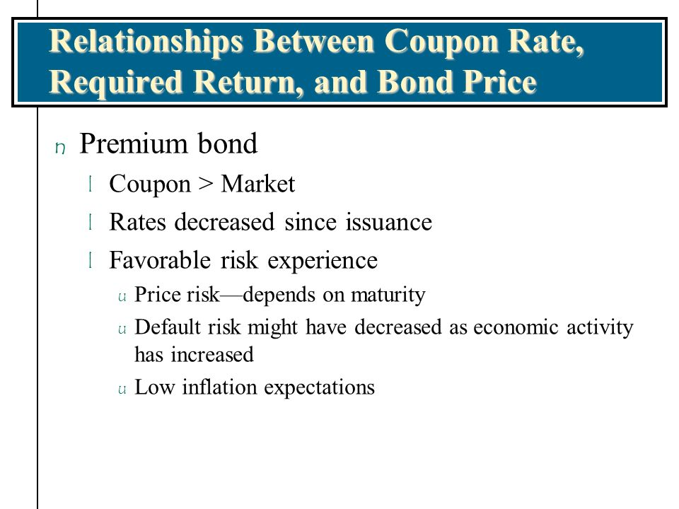 the relationship between coupon rates and bond prices