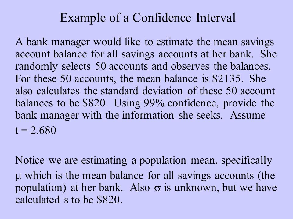 how to find sample mean from confidence interval