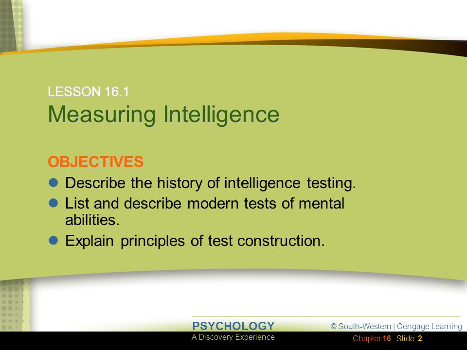 measuring intelligence You've probably heard of 'iq,' but do you really know what it means this lesson  covers the history and theory behind the famous idea of an intelligence.
