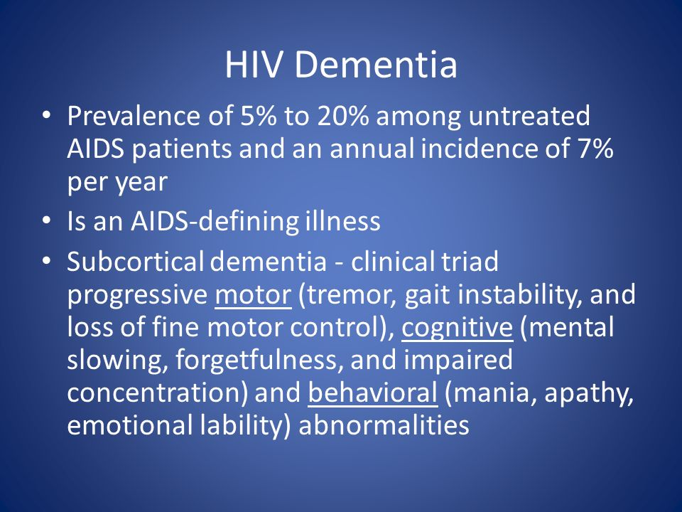 Neurologic complications of hiv infection ppt video for Loss of motor control