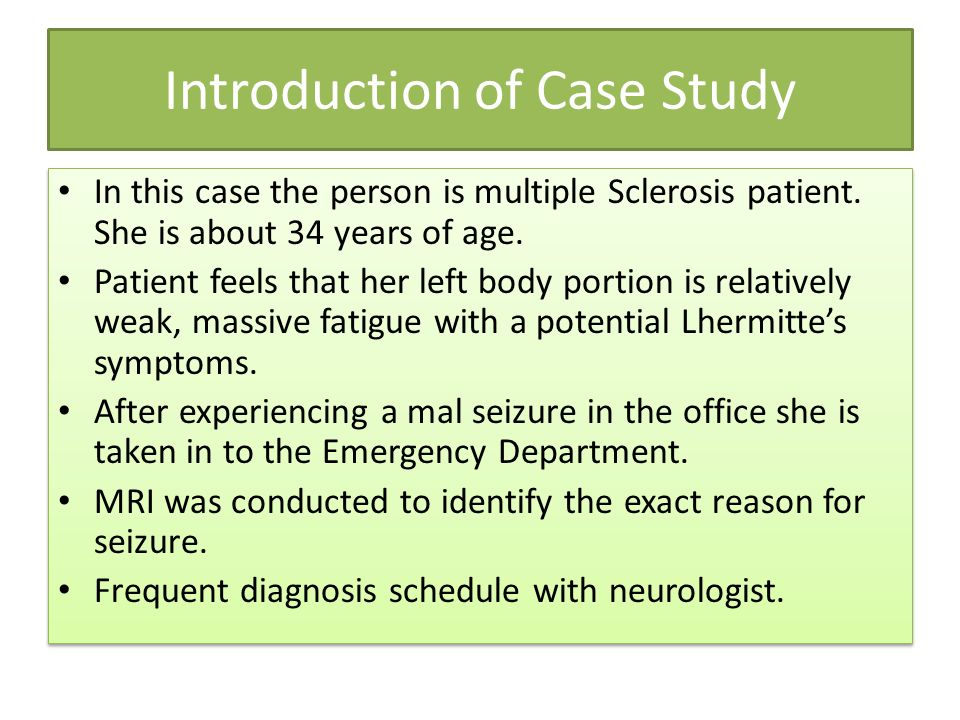 Multiple Sclerosis Case Study - UK Essays | UKEssays