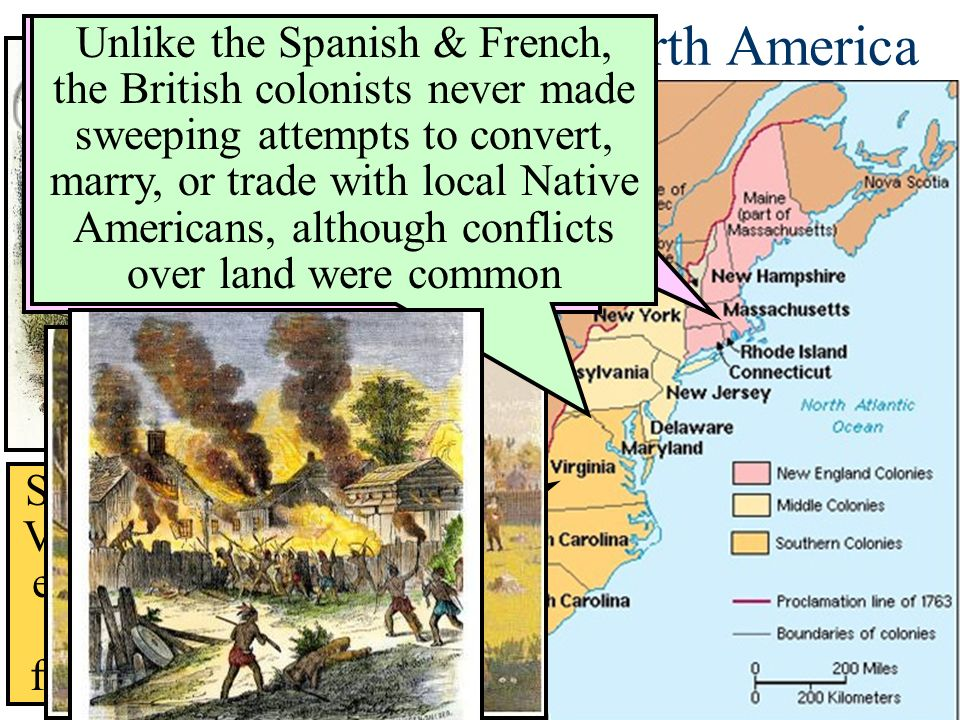 the similarities and differences of the colonies made by england and france The differentiating characteristics among the chesapeake and new england colonies  as france, england,  similarities and differences in.