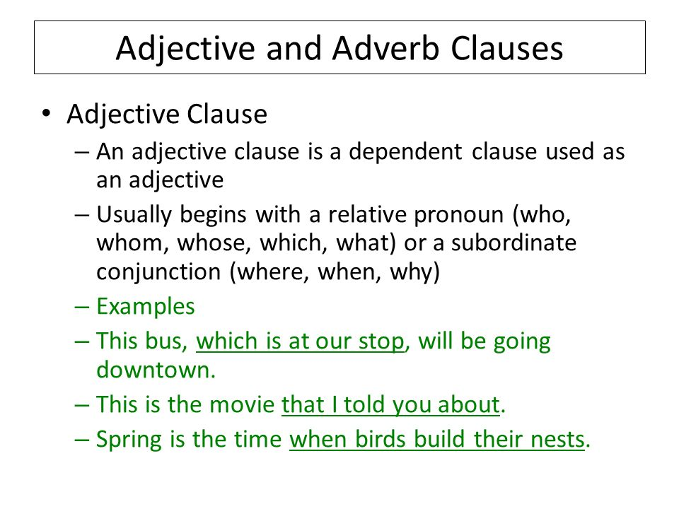 What Is An Adverb Clause Adverb Clause Examples And 7447303