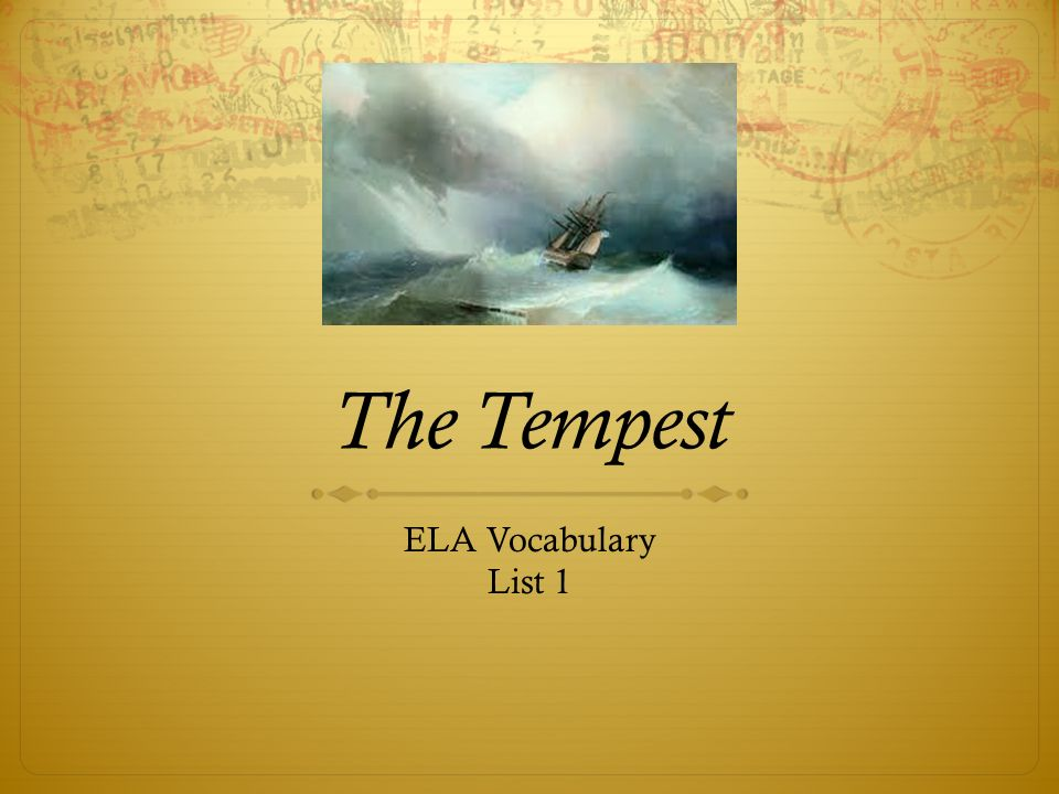 the tempest theme Discussion of themes and motifs in william shakespeare's the tempest enotes critical analyses help you gain a deeper understanding of the tempest so you can excel on your essay or test.