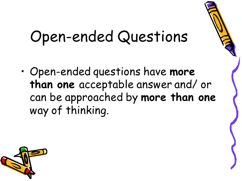 Open ended online dating questions
