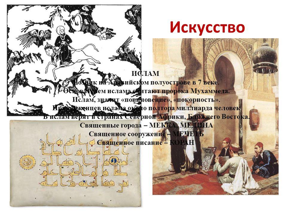 Искусство ИСЛАМ Возник на Аравийском полуострове в 7 веке.