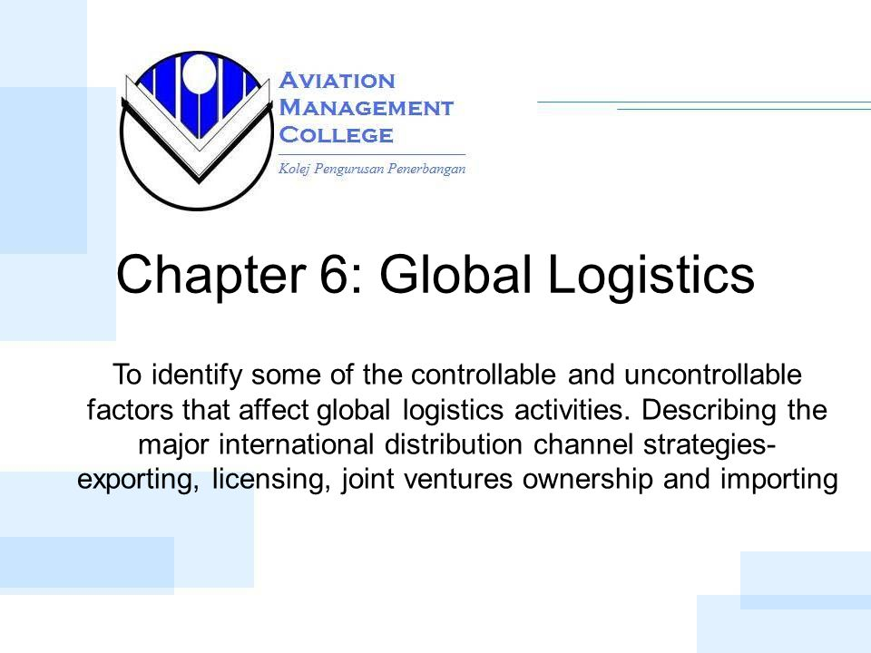 what are the factors that affect international logistics Chapter 12: global marketing, logistics the most significant factors affecting trade are firm not product the uniform law on the international sale of.