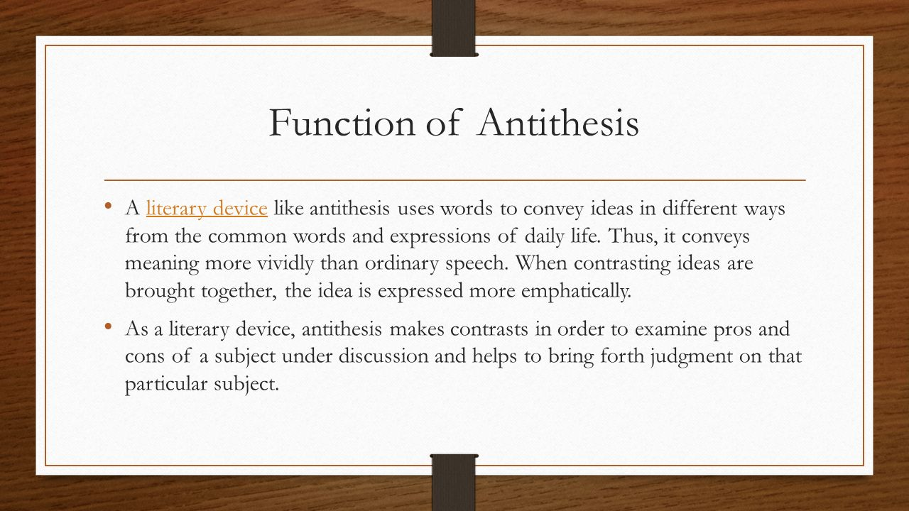 use antithesis shakespeare Chapter eight the antithesis exercise • revisiting the working (and inevitably changing) thesis • why write an antithesis essay • generating antithetical.
