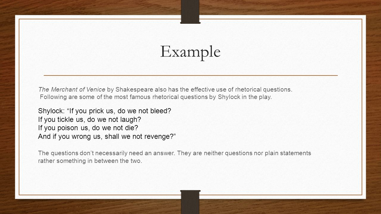 examples of rhetorical question in literature