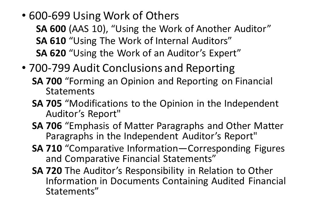 using the work of an auditors Auditing standard no 5 – using the work of others (16) posted by admin on september 11, 2008 the pcaob came out with additional guidance around integrated audits.