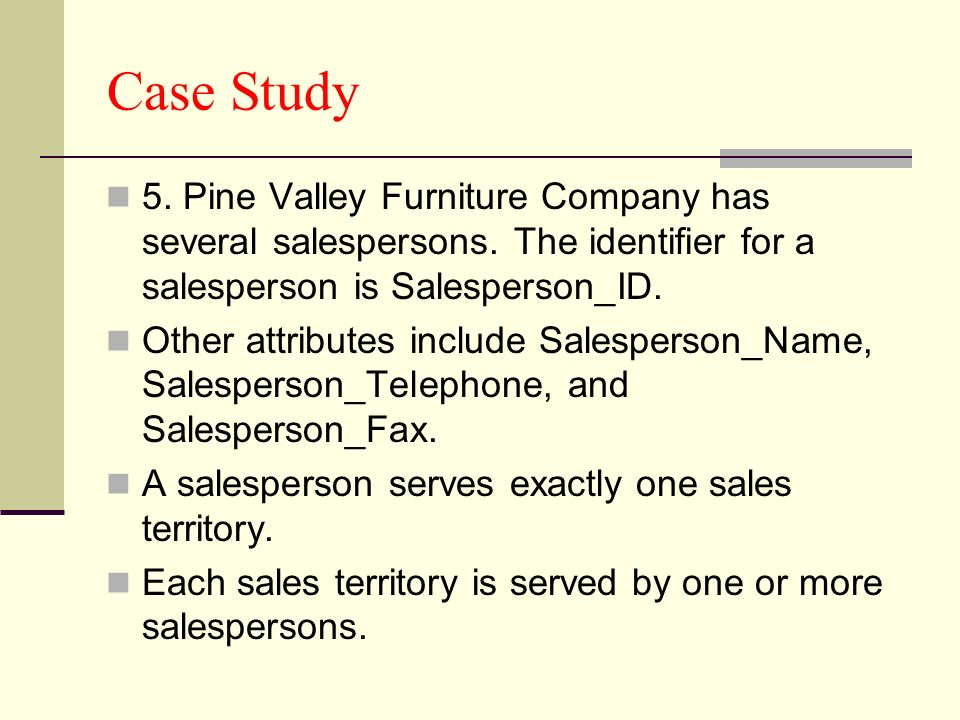 pine valley case study Ine valley furniture case study pine valley furnitures customers tracking system project is now ready to move into the systems design phase you are.