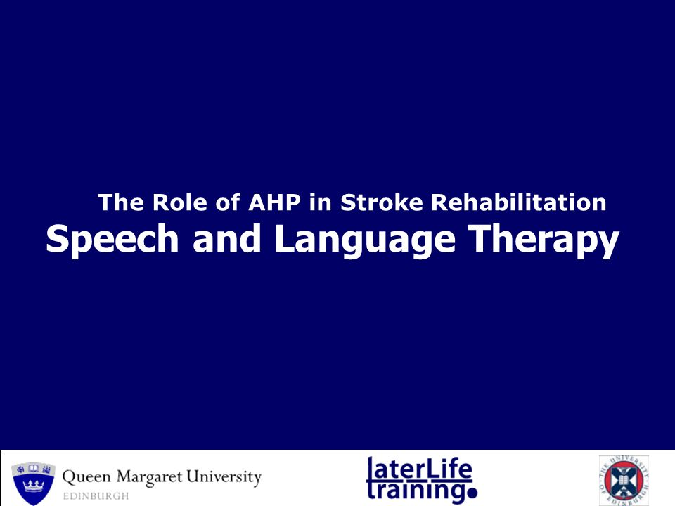 help with speech therapy after a stroke Your speech pathologist will work with you to develop a rehabilitation program  they can also suggest ways to communicate more easily, and aids that can help.