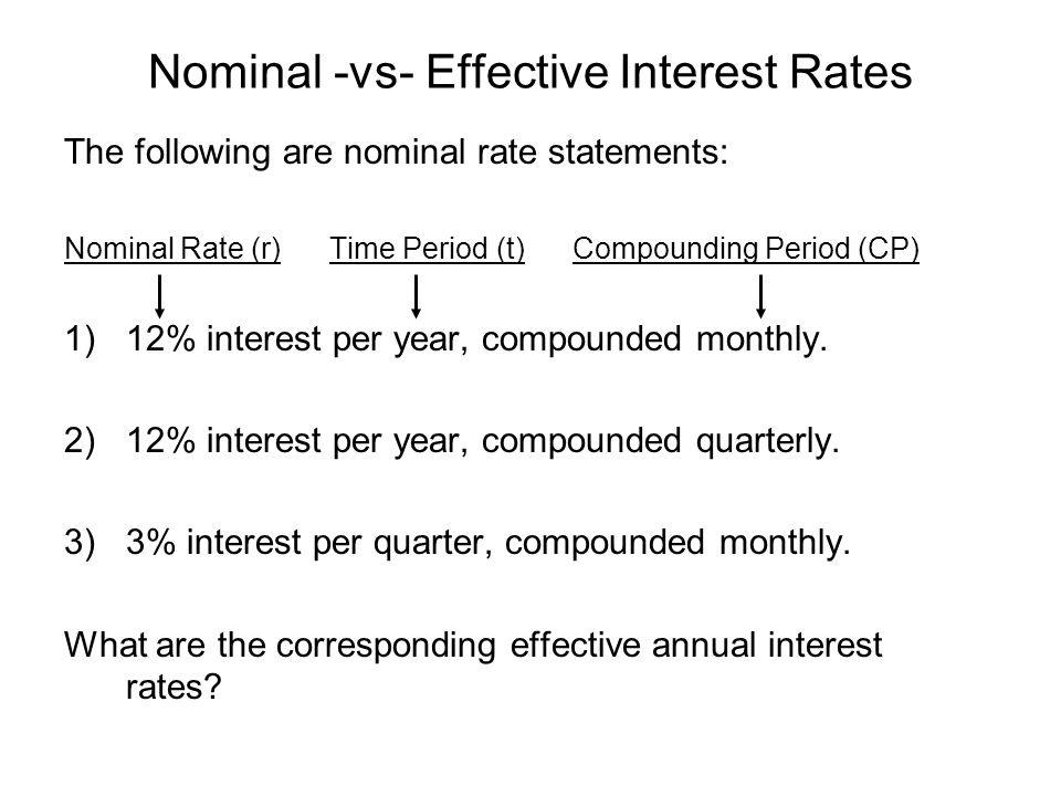 Interest Rate Per Year Compounded Monthly
