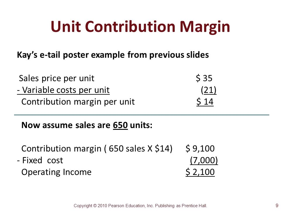 a computation of the revenue variable expense and contribution margin for each cruise Contribution margin is the amount of sales left over to contribute to fixed cost and profit contribution margin can be expressed in a number fixed overhead is attached to each inventory revenue sales selling costs slope trial balance unearned revenue variable cost.