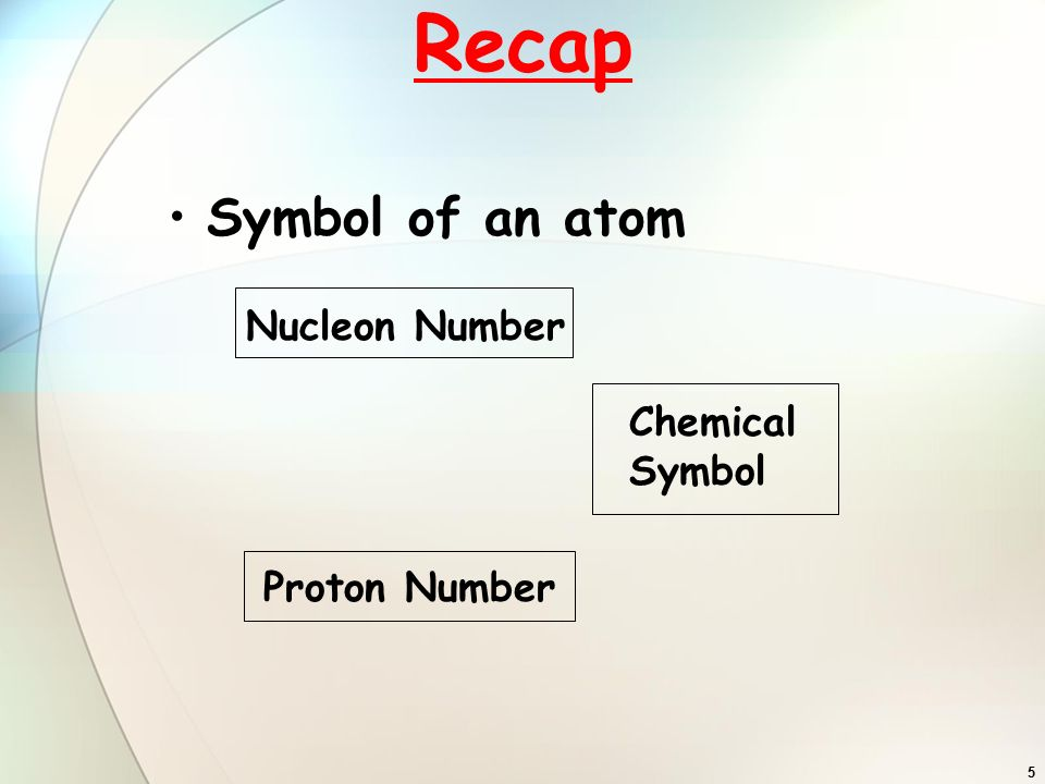 Tutorial atom and nucleon number