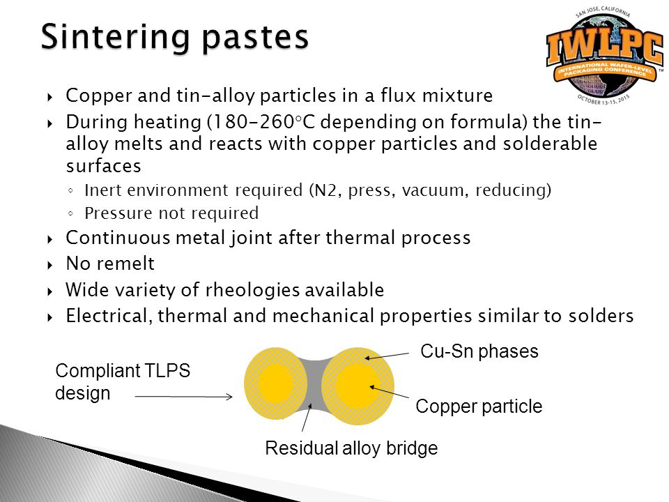 Dual chip wafer level csp with sintering paste lga ppt