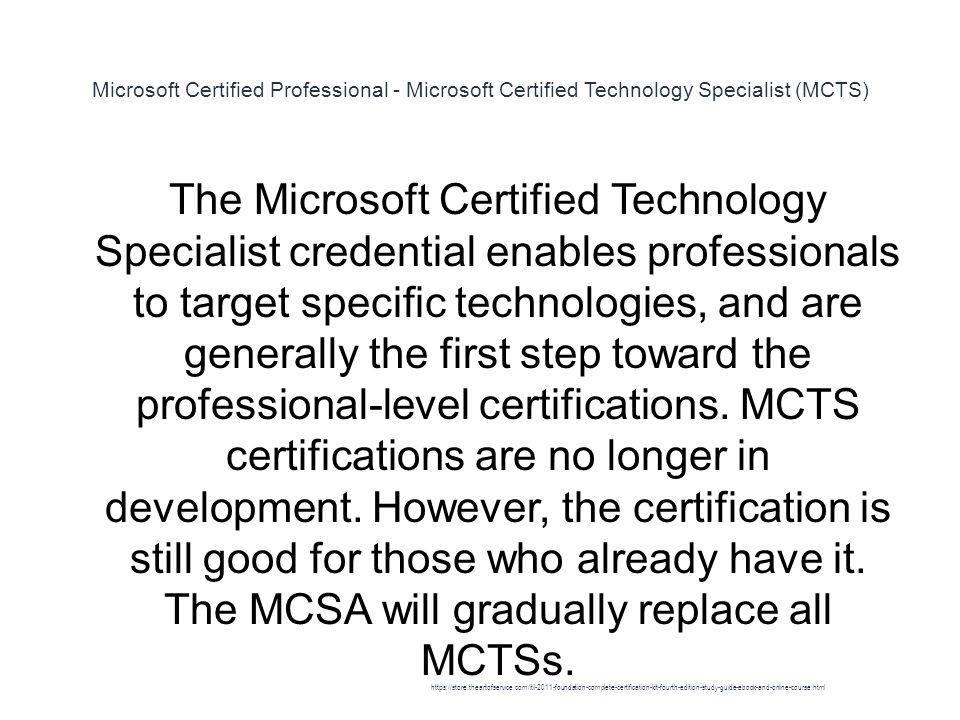 Microsoft Certified Technology Specialist Mcts Certification Image