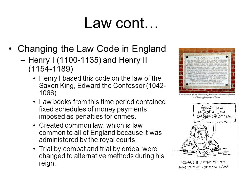 law of cont