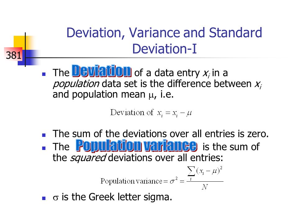 relationship between mean and standard deviation in statistics