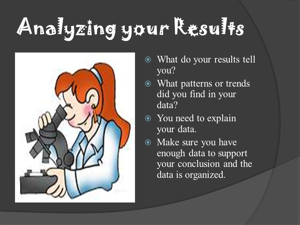 Analyzing your Results