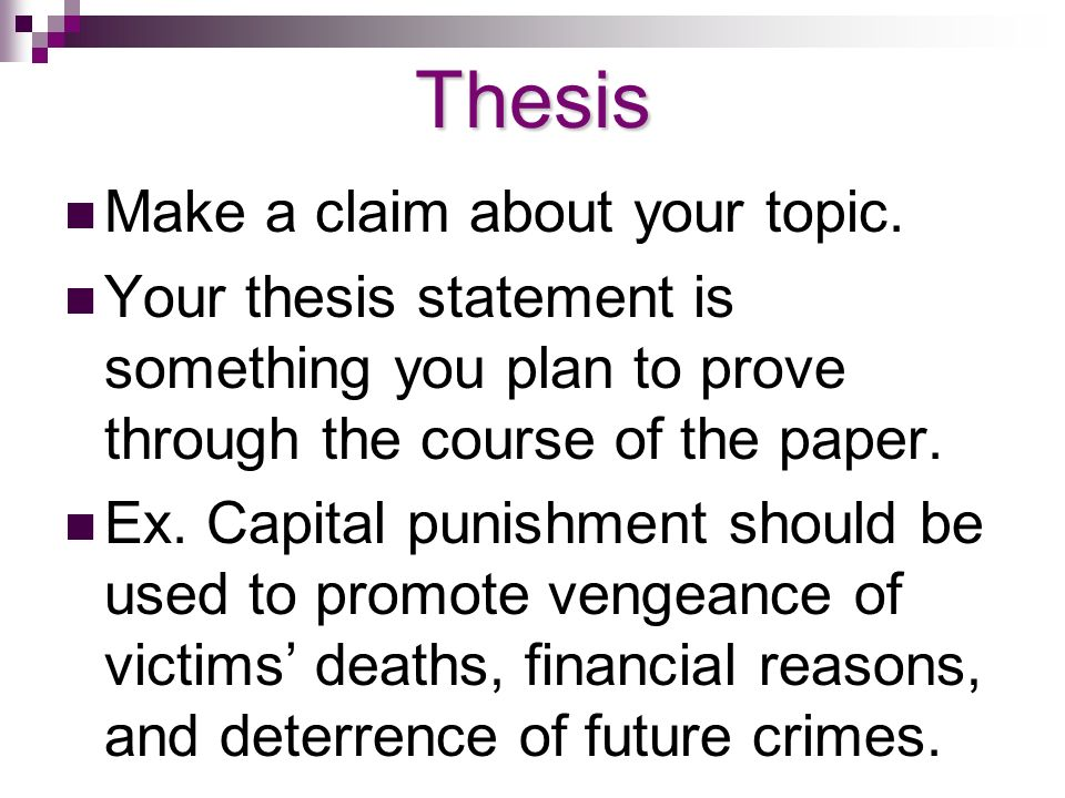 thesis statement for being against capital punishment This post showcases background information on the topic of death penalty and includes few death penalty thesis statement capital punishment human being.