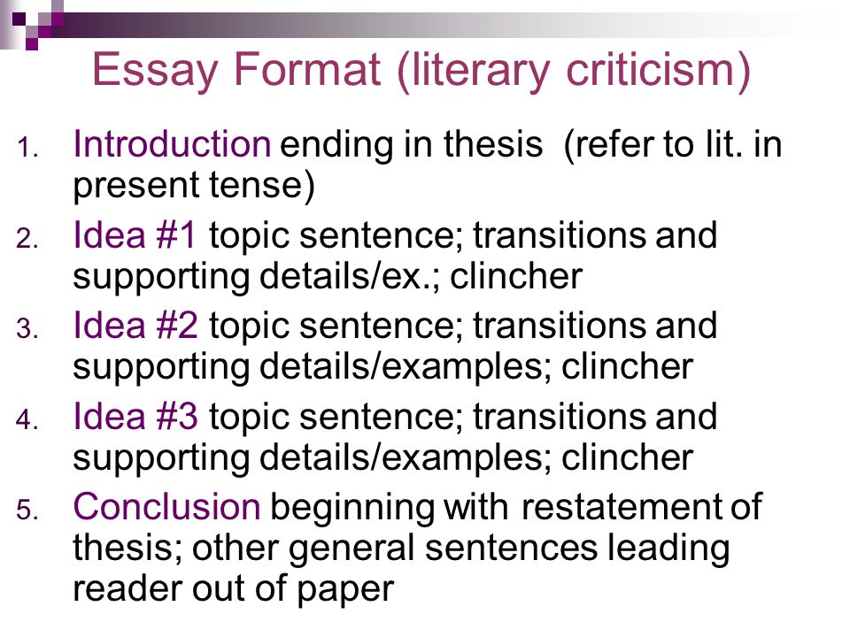 literary essay tense What makes a good literature paper an argument when you write an extended literary essay, often one requiring research, you are essentially making an argument.