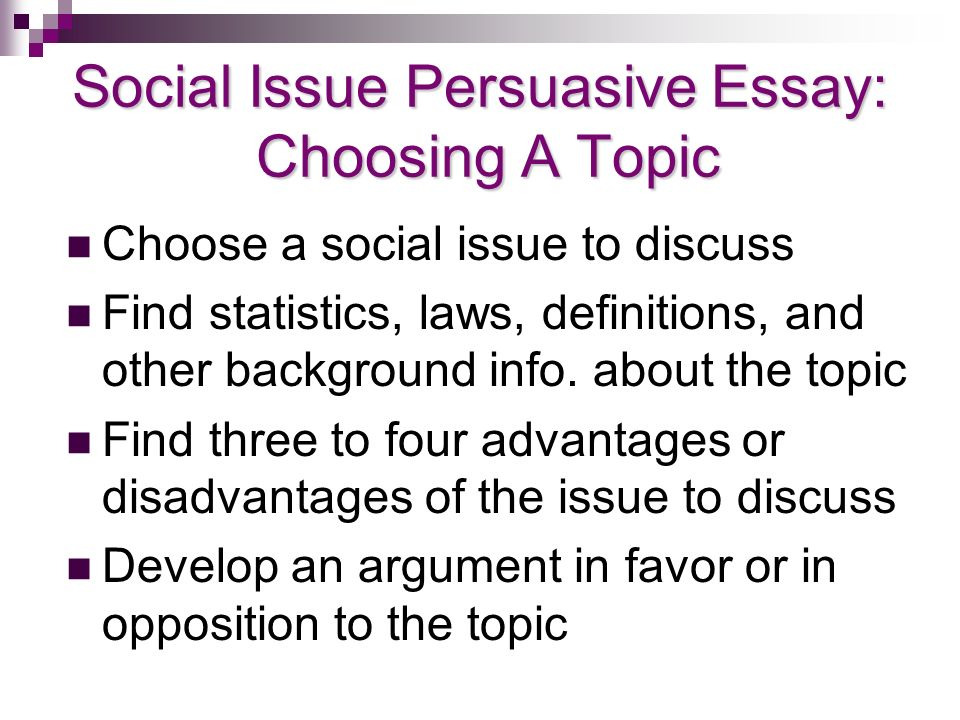 Social Issues To Write A Research Paper On