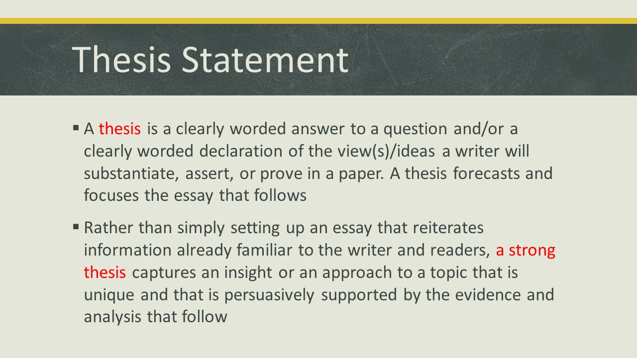 forecast statement essay For exploratory essays, your primary research question would replace your thesis statement so that the audience understands why you began your inquiry an overview of the types of sources you explored might follow your research question if your argument paper is long, you may want to forecast how you will support.
