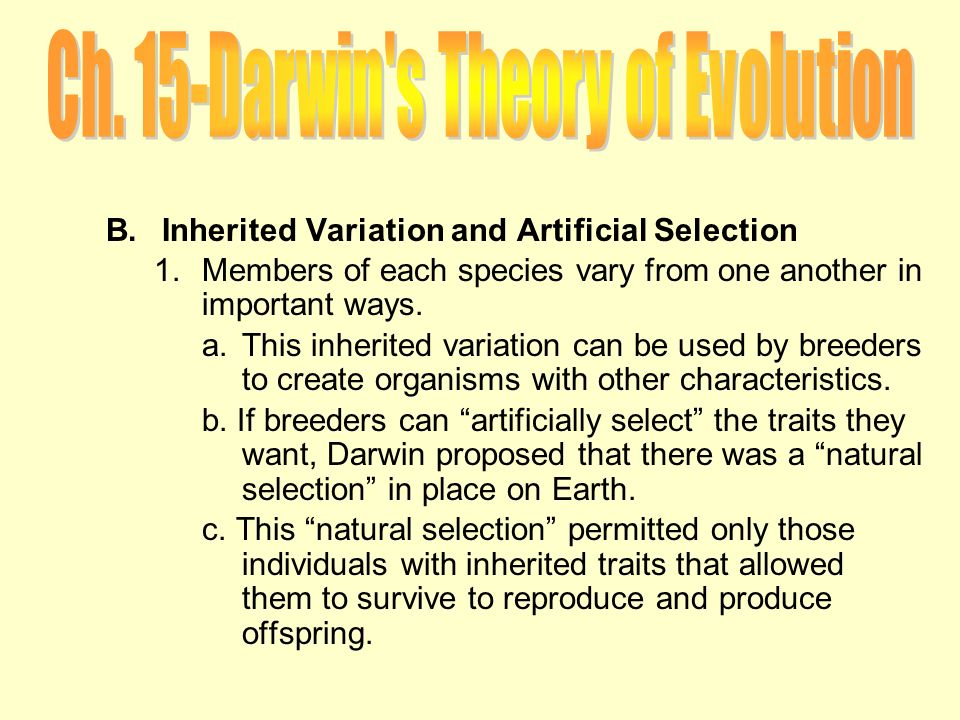 Ch 15 darwins theory of evolution ppt download 17 ch ccuart Image collections