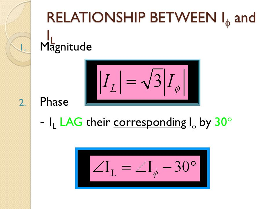 line and phase current relationship interview